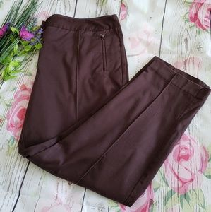 WORTHINGTON WOMAN BROWN DRESS PANTS SIZE 14